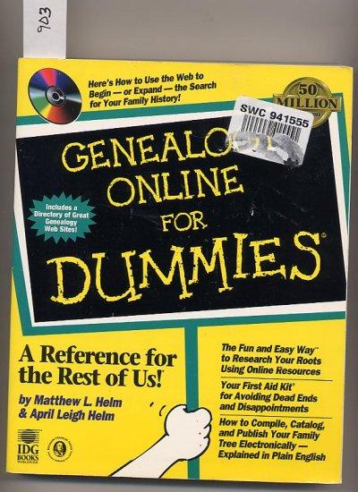 Genealogy Online for Dummies by Matthew Helm SC