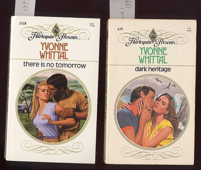 Lot of 2 Yvonne Whittal Dark Heritage, There is No Tomorrow PB