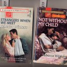 Lot of 2 Rebecca Winters Not Without My Child, Strangers When We Meet PB