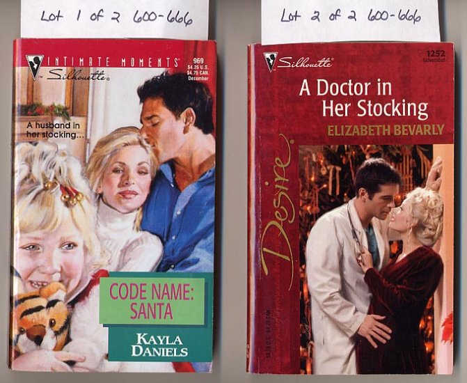 Lot of 2 Silhouette Doctor in Her Stocking, Code Name Santa PB