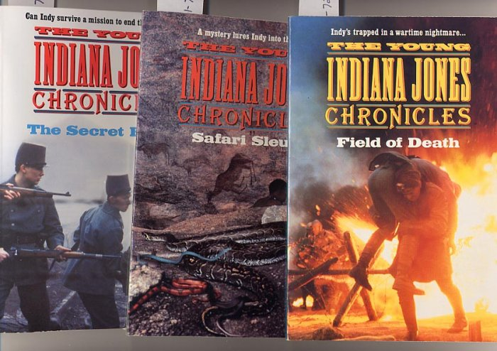 Lot of 3 Young Indiana Jones Chronicles Field, Safari, Secret Peace SC