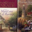 Lot of 2 Thomas Kinkade - Cape Light, Many Loves of Marriage HC