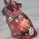 Posy the Little Pink Pig Fenton Art Glass