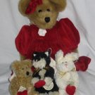 Valentina with Evalina Caterina Michelina Plush Boyds Bears