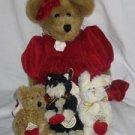Valentina with Evalina Caterina Michelina Plush Boyds Bears