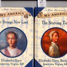 Lot of 2 My America Our Strange New Land Elizabeth's Diary HC