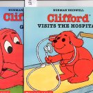 Lot of 2 Clifford Goes to Dog School, Visits the Hospital by Norman Bridwell SC