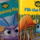 Lot of 2 Bug's Life Flik the Inventor, Thinking Big HC