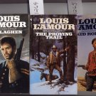Lot of 3 Callaghen The Proving Trail Kid Rodelo by Louis L'Amour PB