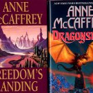 Lot of 2 Anne McCaffrey Freedom's Landing, Dragonseye HC