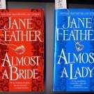 Lot of 2 Almost a Lady Almost a Bride by Jane Feather PB