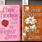 Lot of 2 As You Desire My Dearest Enemy Connie Brockway PB
