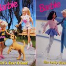 Lot of 2 Barbie Girl's Best Friend and The Lucky Skates HC