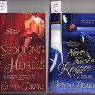 Lot of 2 Seducing the Heiress, Never Trust a Rogue by Olivia Drake