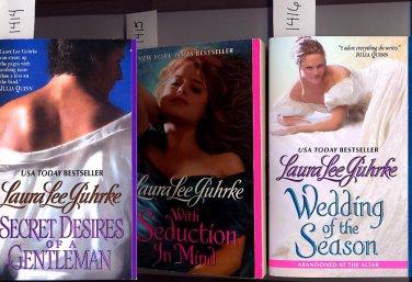 Lot of 3 Secret Desires, Seduction in Mind, Wedding Laura Lee Guhrke PB
