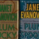 Lot of 2 Plum Lucky, Spooky by Janet Evanovich HC