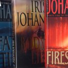 Lot of 3 Iris Johansen Firestorm, Lies, Fatal Tide HC
