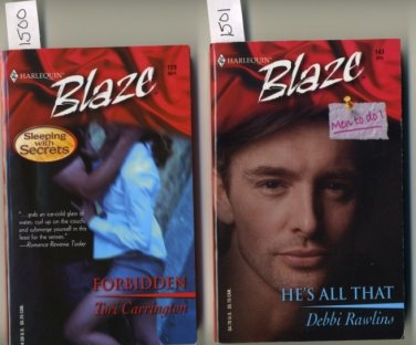 Lot of 2 Harlequin Blaze #129 Forbidden and #143 He's All That