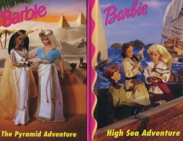 Lot of 2 The Pyramid Adventure and High Sea Adventure Barbie Hardcover