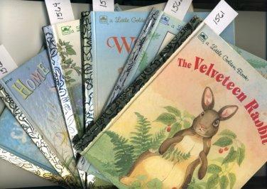 Lot of 6 Little Golden Books Velveteen Rabbit and more Bunnies