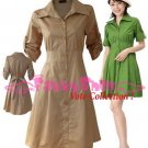 "XXL*BROWN*Dress ((VOTE Collection)) Tie knot behind Cotton+Spendex Side1F 42"" chest*FREE SHIP!!"