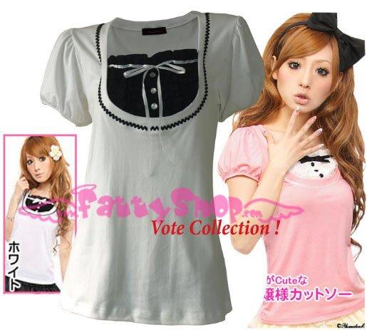 "XXXL*WHITE*T-shirt ((VOTE Collection)) chest drain & knot INTERIOC COTTON 2F 46"" chest*FREE SHIP!!"
