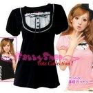 "XXXXL*BLACK*T-shirt (VOTE Collection) chest drain & knot INTERIOC COTTON 3F 50"" chest*FREE SHIP!!"