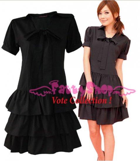 XXXXL*BLACK*Dress ((VOTE Collection)) 3step drain+neck knot Cotton Com 3F 50 inch chest*FREE SHIP!!