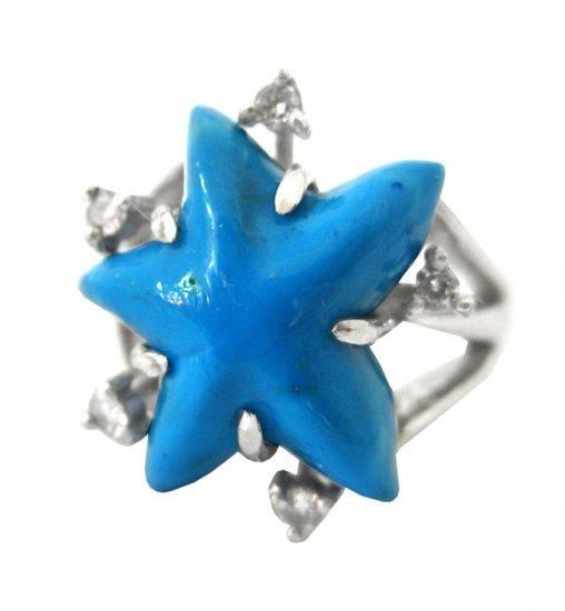 Wonderful Artisan Turquoise Star Ring
