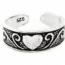 Beautiful Heart  Toe Ring