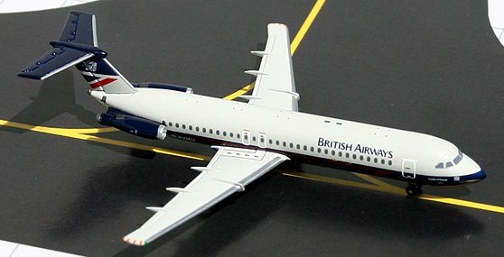 GeminiJets 1:400 British Airways BAC 111-500 Landor Colors BA00002