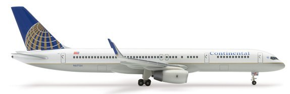 Herpa 1:400 Continental Airlines Boeing 757-200 with Winglets CA00001