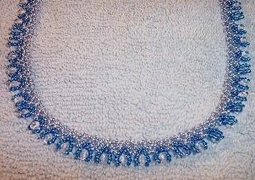 Bead drop blue
