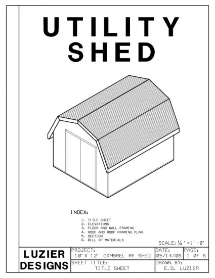 10 x 12 gambrel roof barn shed building plans blueprints for Gambrel roof dimensions