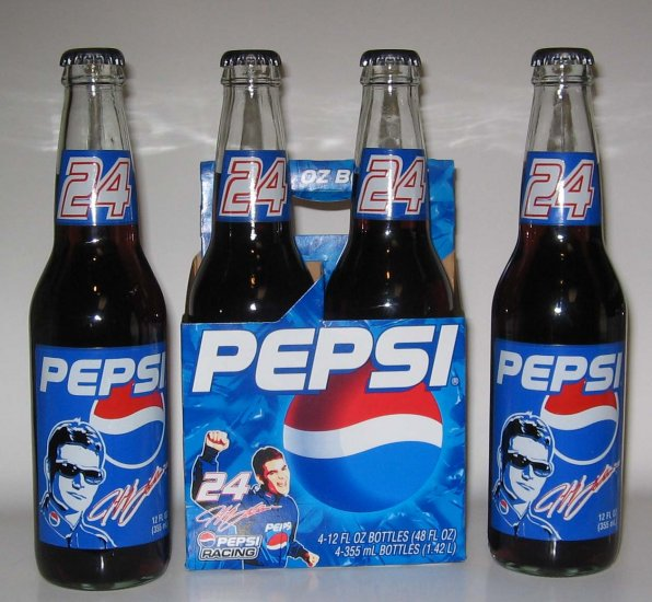 Jeff Gordon #24 Pepsi Racing 4 Bottle Set
