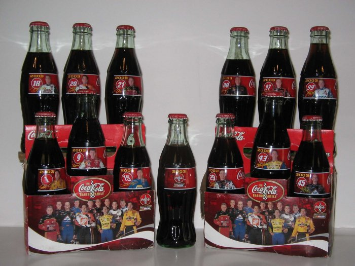 2003 NASCAR Family Coke 13  Bottle Set