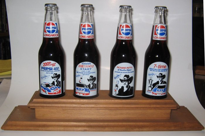 Richard Petty 12oz. Longneck Pepsi Bottle Set