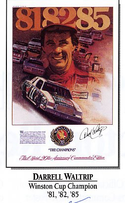 Darrell Waltrip Winston Motor Sports Champions Commemorative Poster