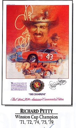Richard Petty Winston Cup Champion Commemorative Poster