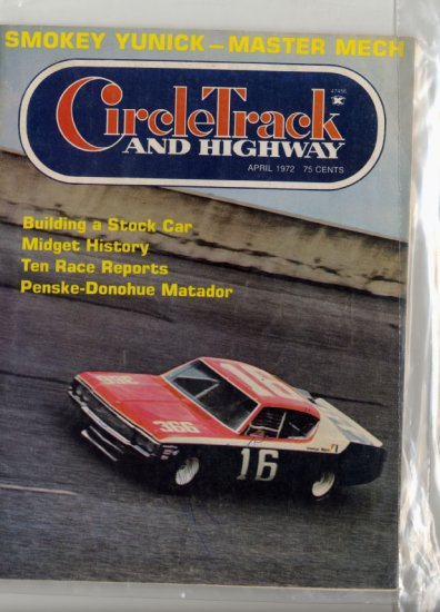 SOLD CIRCLE TRACK AND HIGHWAY Magazine April 1972