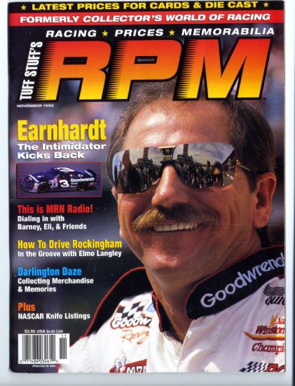 Tuff Stuff RPM Magazine Dale Earnhardt