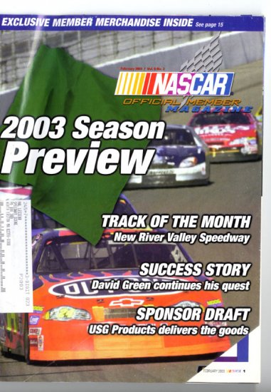 NASCAR Official Members Magazine February 2003