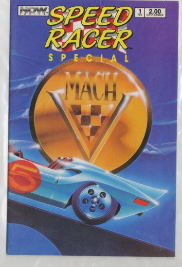 SPEED RACER Special Mach V  Issue #1 Feb. 1988