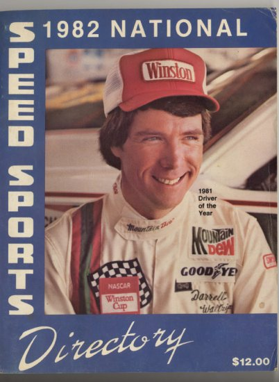 NASCAR 1982 National Speed Sport Directory Winston Cup ARCA
