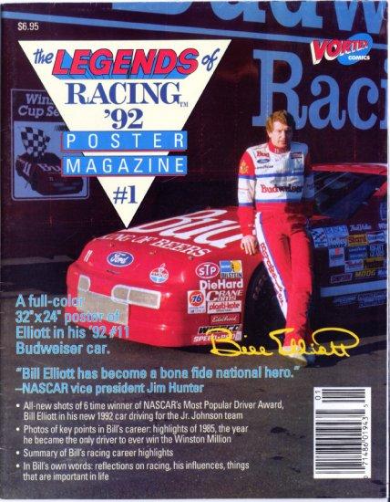 Bill Elliott Poster Magazine 1992 Budweiser 11