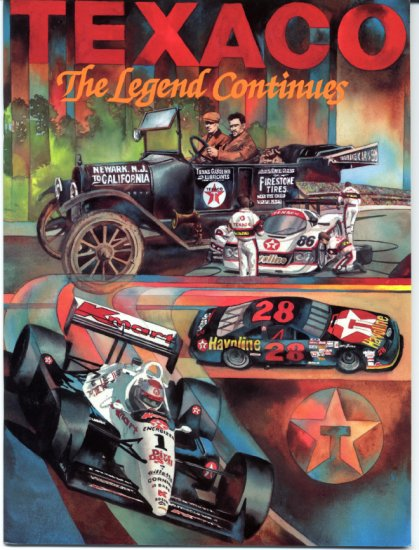 TEXACO The Legend Continues NASCAR IMSA INDY