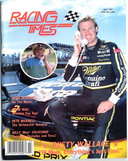 1991 Racing Times Magazines (4) Rusty Wallace Jeff Fuller Tom Baldwin Fiandaca