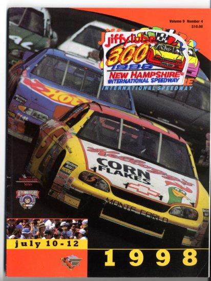 New Hampshire International Speedway NHIS Jiffy Lube 300 1998 Program NASCAR