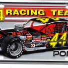 Mario Fiore 44 Racing Team License Vanity Plate Modifieds McBetts Pontiac
