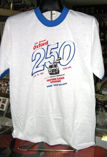 14th Annual Oxford 250 1987 Oxford Speedway Tshirt XL